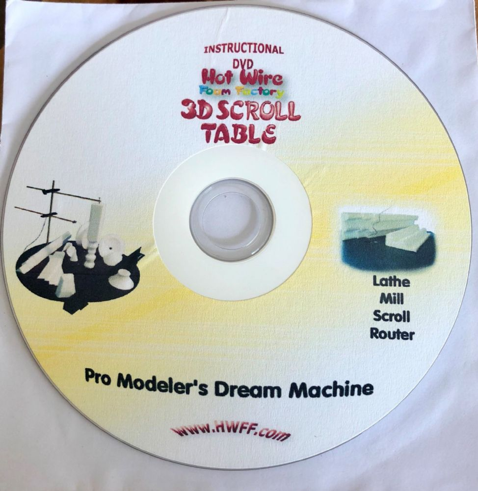 Hot Wire Foam Factory 3D Scroll Table Instructional DVD